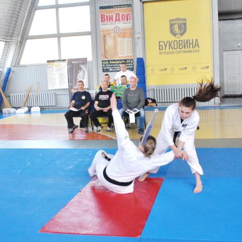 Выступления спортсменов Днепропетровской федерации рукопашного боя на Чемпионате Украины по рукопашному бою 2016 - демонстрация техники