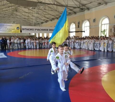 Первый Чемпионат Украины по рукопашному бою среди школьников